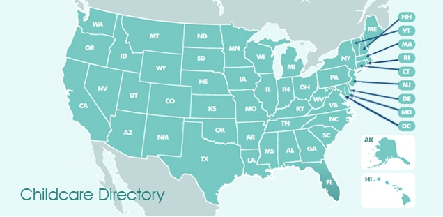 Map of Nanny Agencies in the United States